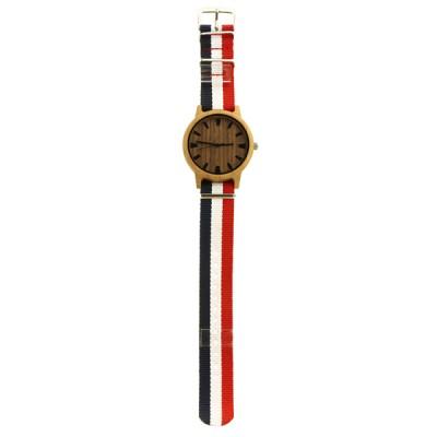 Wood Wood Watch, Carbonized bamboo case, walnut dial, sport, nylon strap