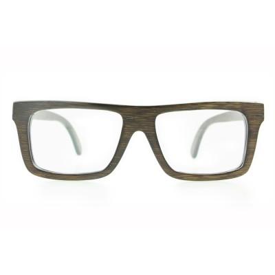 frames eyeglasses cheap, black bamboo full rim frame, lenses can be changed to prescription lenses, Rectangle