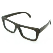 frames eyeglasses cheap, black bamboo full rim frame, lenses can be changed to prescription lenses, Rectangle