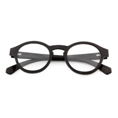 designer eyeglasses, black layered wood, lens can be changed to prescription lens, Oxford