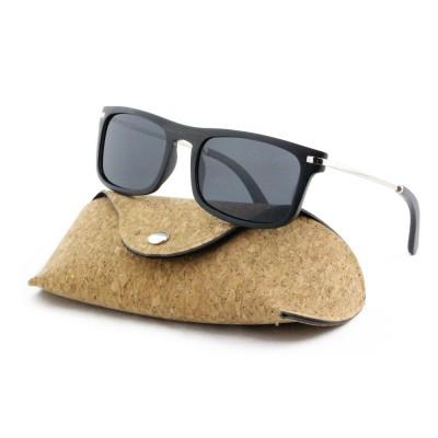 custom wood sunglasses, Ebony wood Square, stainless steel, tan lenses