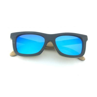 polarized wooden sunglasses, orange red lenses, layered wood, black wood full rim frame