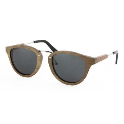 grown wooden sunglasses, walnut wood, black, Stainless Steel, Wayfarer, Men's