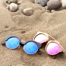 how to clean wood sunglasses