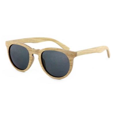 Wood Sunglasses Cat Eye, Oak Wood, Black, Unisex