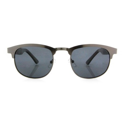 Wooden Sunglasses Canada, Ebony Wood, Square, Stainless Steel,Black Lenses