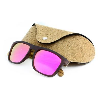 Capital Wooden Sunglasses, Zebra Wood, Rose Lenses, Plastic