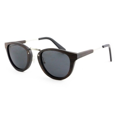 Wood Sunglasses San Francisco, Ebony Wood, Black, Wayfarer, Men's