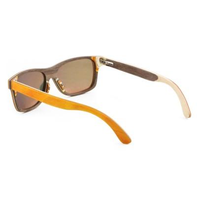 Wood Sunglasses Orange, Maple Wood, Orange, Wayfarer, Men's