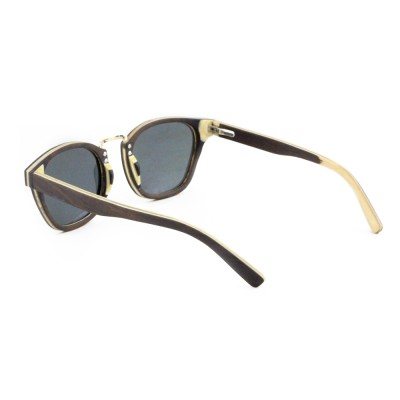 Womens Wooden Sunglasses, Ebony Wood, Black, Wayfarer