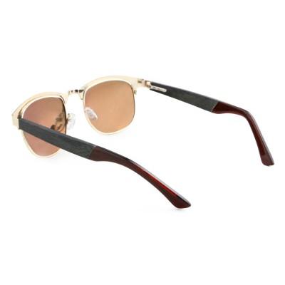 Wood Frame Sunglasses Amazon, Ebony Wood Square, Stainless Steel