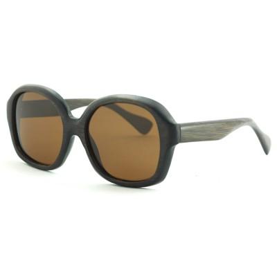 Bamboo Wood Sunglasses, Black Bamboo, Full Rim Frame and nose pad