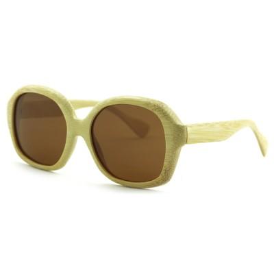 Oversized Sunglasses Men, Nature Bamboo, Full Rim Frame and Nose Pad