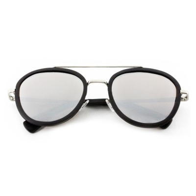 Wholesale Designer Sunglasses, Ebony  Full Rim Frame Aviator