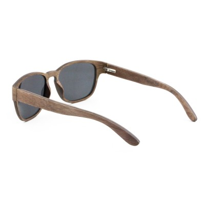 Wood Handmade Sunglasses Polar , Walnut  Full Rim Frame Aviator, Gray Lense
