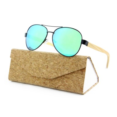 Wooden Sunglasses Philippines, Bamboo, Stainless Steel, GreenLenses