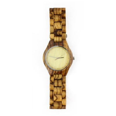Australian Made Watches,Zebra Wood Case,All Nature Wood  Strap, Metal Scale