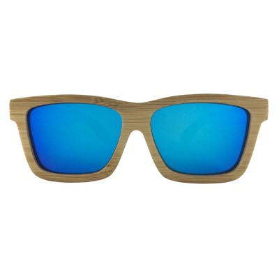 Sunglasses Wooden Frame, Carbonized Bamboo, Full Rim Frame and Nose Pad, Blue
