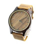 Cool Unique Watches,Ebony Wood, Leather Strap