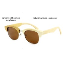 What is the difference between natural bamboo sunglasses and carbonized bamboo sunglasses?