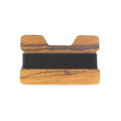 Real Solid Zebra Wood Wallet 1mm thickness two pieces