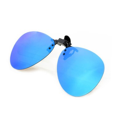 custom logo with spring metal mirrored polarized lens tac clip on sunglasses parts wood frame