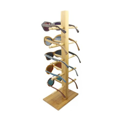 bamboo sunglass display stand, 5 pcs sunglasses show