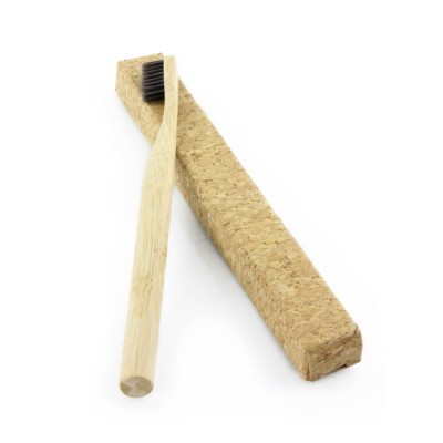 Rainbow round handle best bamboo toothbrush