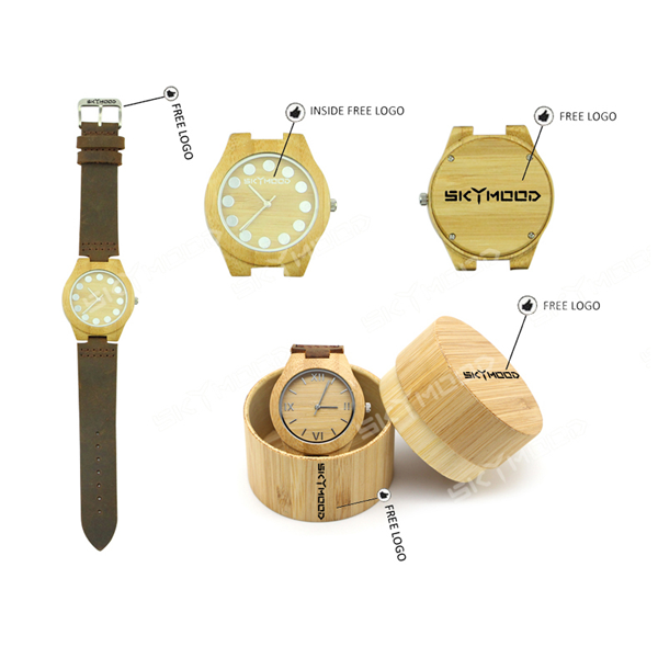 wooden watch custom logo