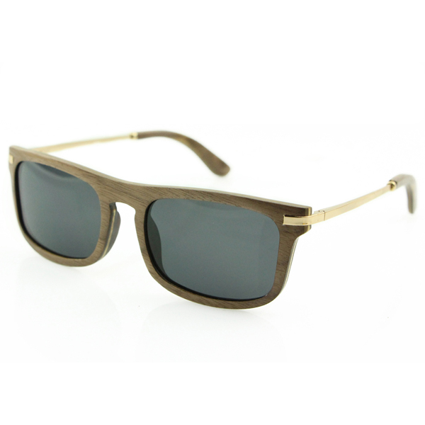6ddfab4218 Metal and Wood Sunglasses   Walnut and Stainless steel