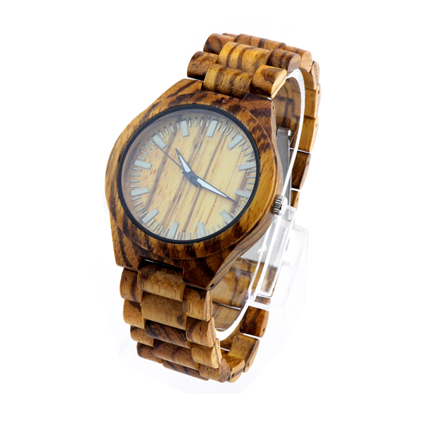full zebra and no number dial etsy wooden watches side view picture