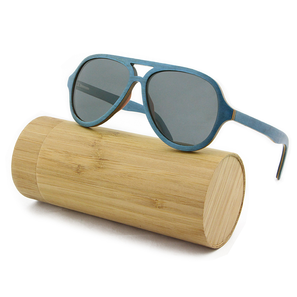 wooden frame sunglasses maple layered wood sunglasses aviator full rim frame gray lenses - Wood Frame Glasses