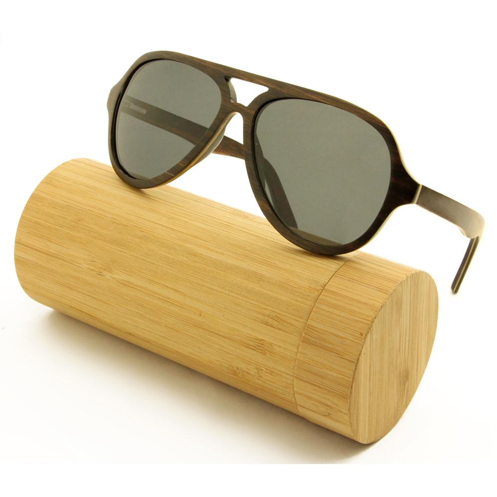 sunglasses with wooden frames ebony wood top bar and full rim frame aviator gray - Wood Frames Glasses