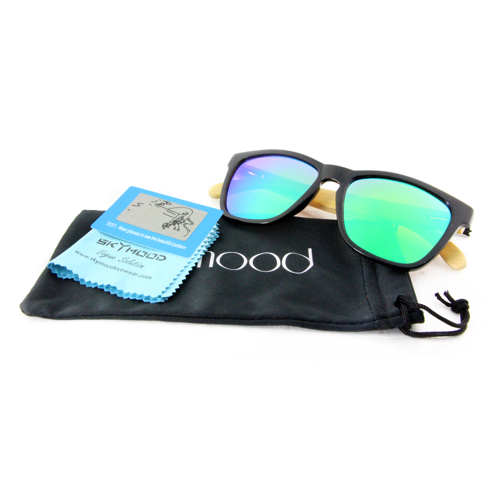 how to clean wood sunglasse