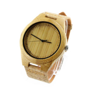 bamboo and scale dial cool modern watches cork wood watch side view picture