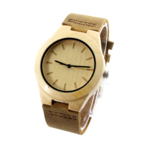 maple and no number dial engraved wood watches side view picture