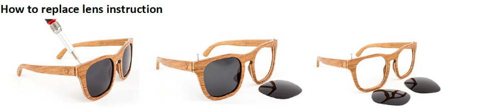 wood sunglasses how to replace the lenses