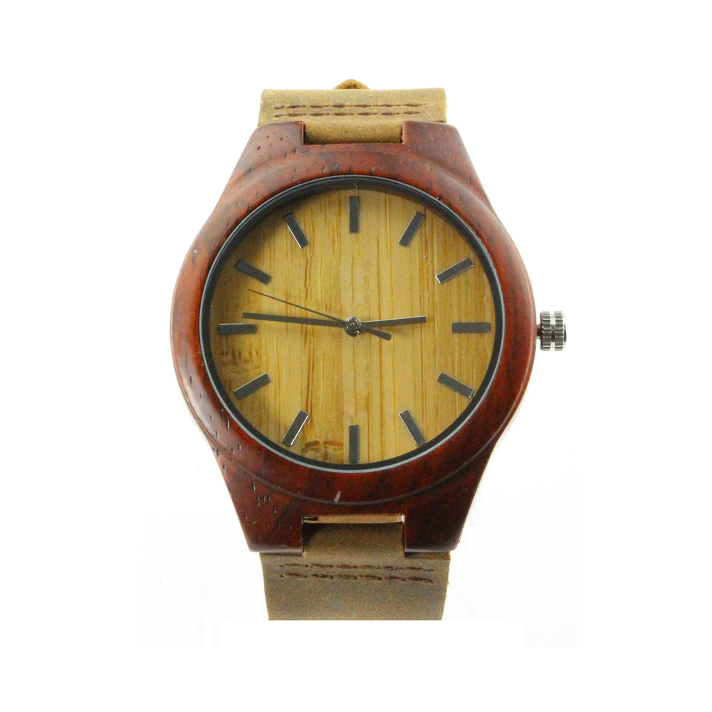 black giacomo redblack orologio wood red sandalwood watches massiccio ebony design watch