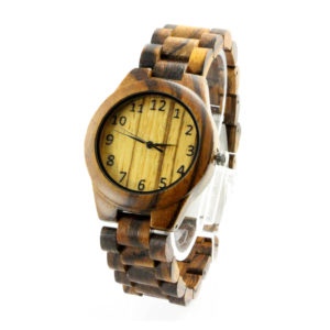 full wood with number dial Finest Hand Crafted All Natural Wooden Watches side view picture