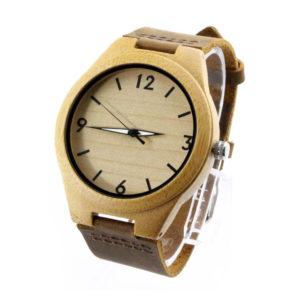 bamboo and number dial wooden bamboo watches side view picture