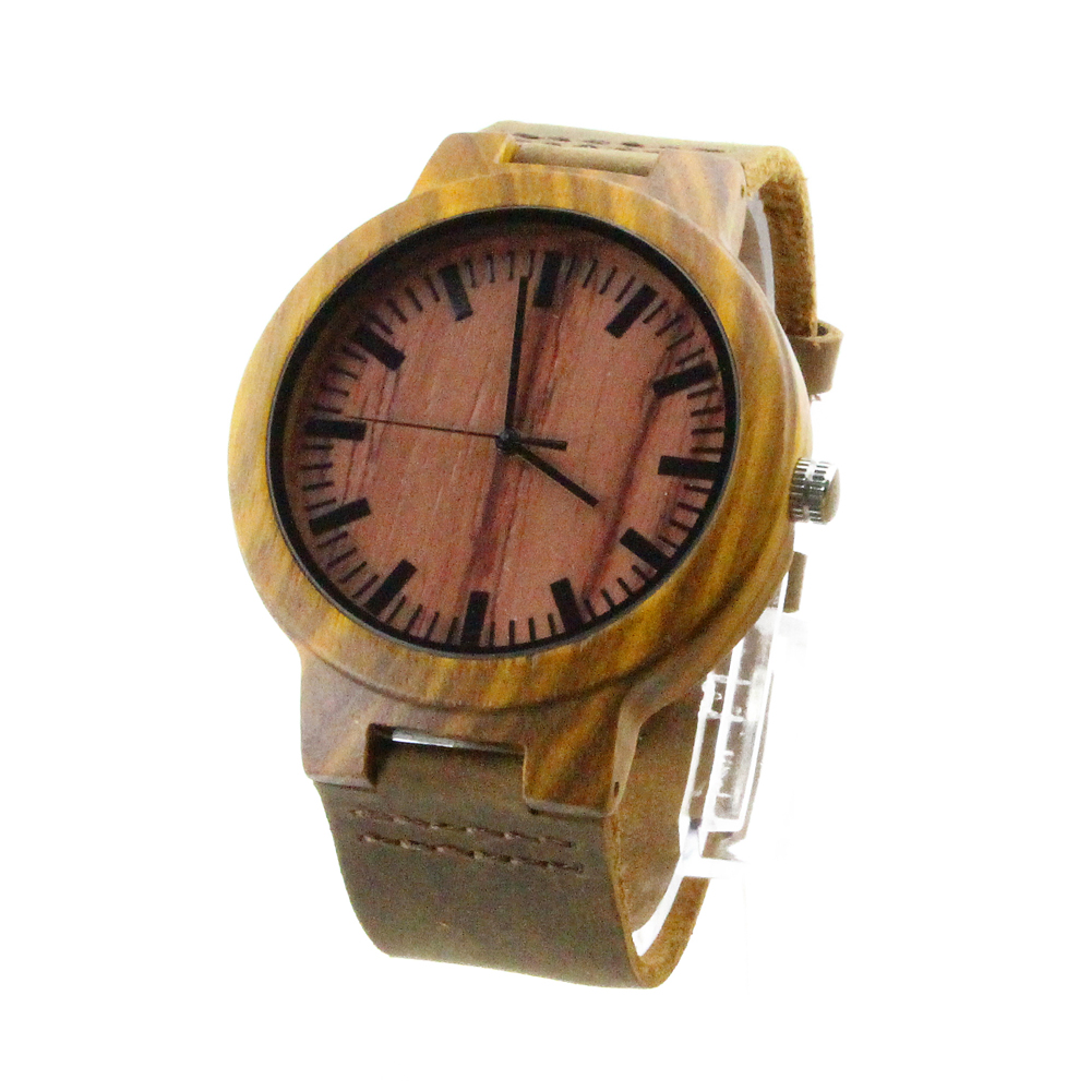 wooden watch engraved