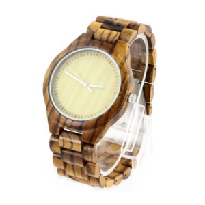 bamboo and no number dial full australian made watches side view picture
