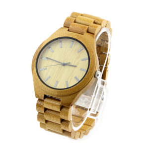 full bamboo with no number dial women's best made watches side view picture