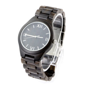full ebony roman numerals dial all wooden watches side view picture