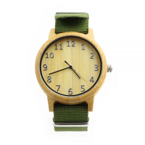 bamboo big number sport nylon strap watch boys watch front view picture