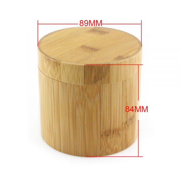 cylindrical bamboo yellow wood watch box size chart