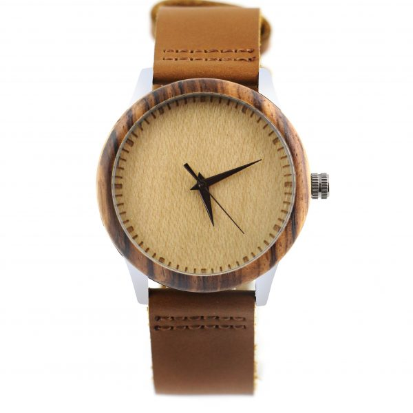 wood and metal watch