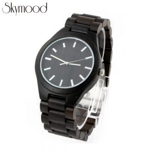full ebony with big round dial all wood business mens watches show picture