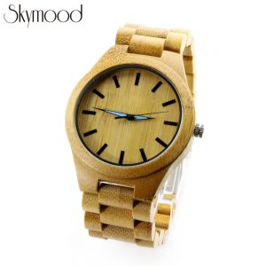 bamboo yellow round watch young women amazon show picture