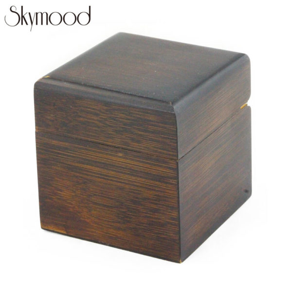 square ebony high-end black wood watch box overall picture